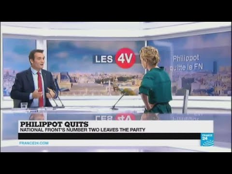 France: National Front Leader Philippot explains why he leaves the party