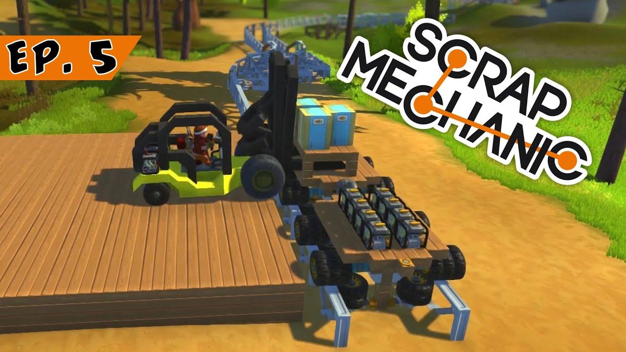 Scrap Mechanic Ep  Advanced Forklift Scrap Mechanic - Forklift mechanic