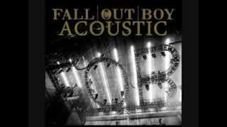 Скачать Fall Out Boy Dead On Arrival Acoustic