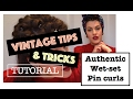 Vintage wet-set pin-curl tutorial⎟VINTAGE TIPS & TRICKS