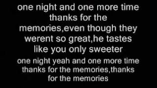 thanks for the memories fall out boy with lyrics on screen