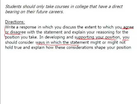 Analytical Writing Assessment - Issue Task - part 1