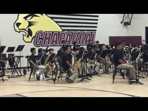 Chaparral middle school band 2017