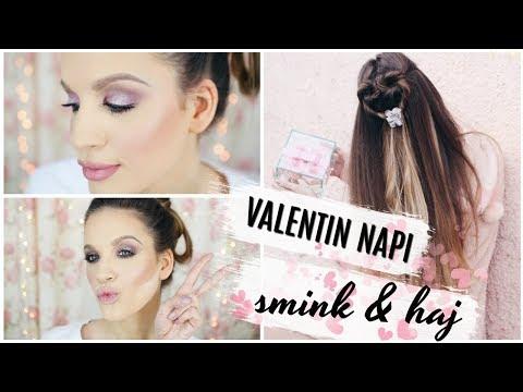 Valentin Napi Glitteres Smink & Szívecske Haj│Karin Dragos