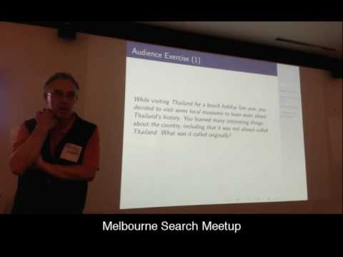 Melbourne Search Meetup August 2016