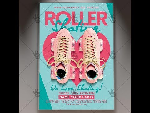 Roller Skating Flyer - PSD Template