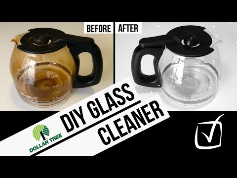 DIY GLASS CLEANER // Dollar Tree Cleaning Hack // How To Clean Foggy Glass