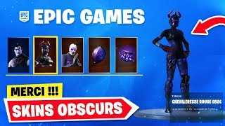 "How to DÉBLOQUER these new SKINS ""OBSCURS"" on Fortnite Battle Royale."