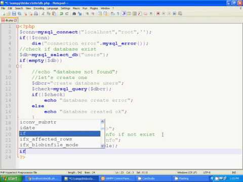 Create Database And Table If Not Exist With Php Tutorial 9 Youtube