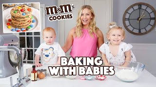 Chewy M&Ms Cookies! (Baking with Babies)