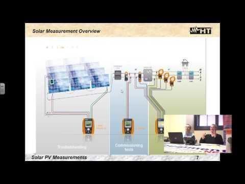 Solar Panel Measurements Webinar with HT Instruments