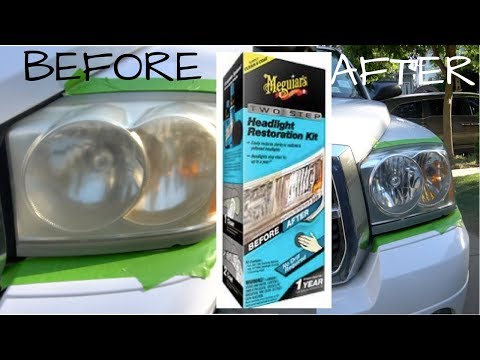 Restoring the Headlights with Meguiar's Two Step