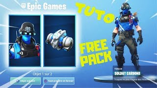 Fortnite PACK Carbone GRATUIT sur PSN PLUS | TUTO Comment obtenir Gratuitement Soldat Carbone