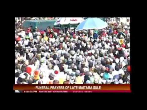 Late Maitama Sule's Funeral in Kano
