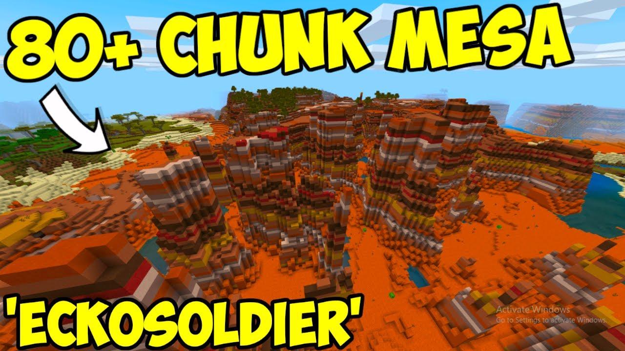 Massive Mesa Minecraft Bedrock Edition Mesa Seed Youtube