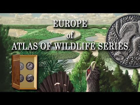 Andorra WILD BOAR EUROPE ATLAS of WILDLIFE 1oz Silver coin Antique finish 10 Diners High Relief 2014