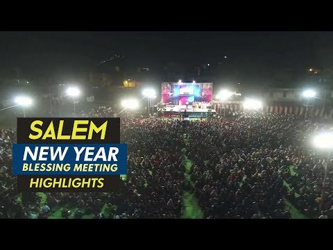 Salem New Year Blessing Meeting 2018 Highlights | Dr. Paul Dhinakaran & Family