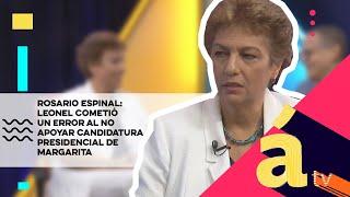 Rosario Espinal: Leonel cometió un error al no apoyar candidatura presidencial de Margarita Cedeño