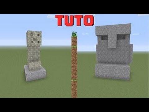 Tuto construction creeper et statue minecraft youtube for Minecraft tuto construction