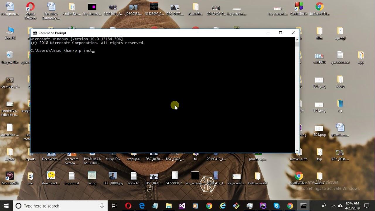 how to install matplotlib in python