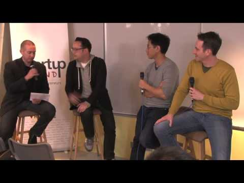 Casey Lau, Gene Soo and Jon Buford (Startups HK) at Startup Grind Hong Kong