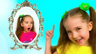 Маша и волшебное зеркало. Перемещение из дома в детскую комнату и на детскую площадку