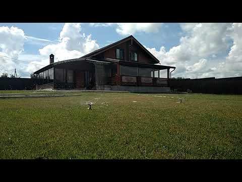 Видео База отдыха Терем поливаем газон