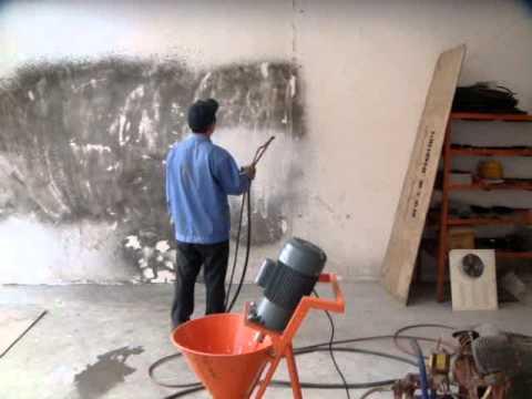 Maquina para hacer friso de cemento al pared 4 youtube - Paredes de cemento ...