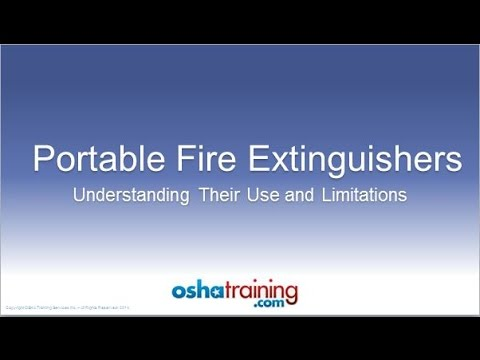 Free OSHA Training Tutorial - Portable Fire Extinguishers