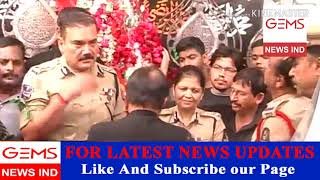 Gems News Ind Sri Anjani Kumar IPS Commissioner of Police Hyderabad visit historic Bibi  Ka Alawa