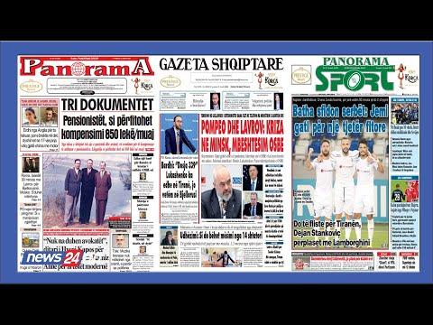 """21 gusht, 2020 """"Shtypi i dites"""" në @News24 Albania - """"Koha për t'u zgjuar""""  nga Bashkim Hoxha - YouTube"""