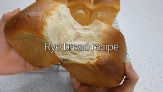 호밀생크림식빵 만들기   호밀식빵   손반죽 식빵   …