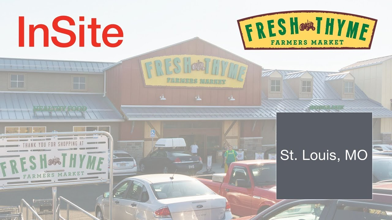 Insite Real Estate Fresh Thyme Farmers Market Retail Build To Suit