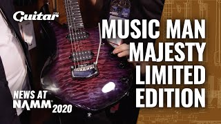 Music Man's Purple Nebula Majesty is a beautifully finished, highly limited guitar #NAMM2020