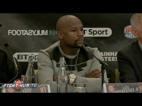 Floyd Mayweather shuts down Conor McGregor fight questions at Davis vs. Walsh presser