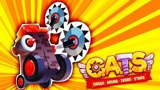CATS - Боевые Коты! ТЕСТИРУЮ ГАРПУН Мульт игра для детей про сражения КОТЯТ НА БОЕВЫХ МАШИНАХ