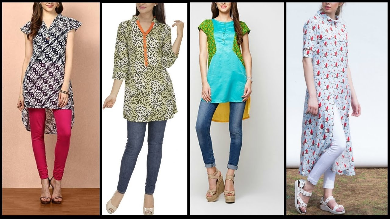 latest daily wear kurtis long shirts designs for girls