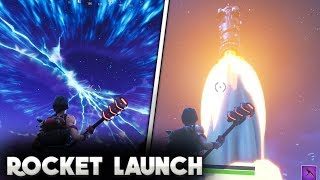 Fortnite ROCKET LAUNCH GAMEPLAY! | ( For those who were stuck in a queue) | Fortnite Season 5!
