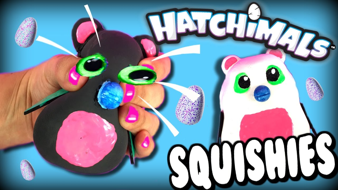 DIY Squishy Hatchimals Toys   Hatchimals Stress Balls   How To ...