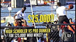 Jimma Gatwech Competes vs PRO DUNKERS for $25,000!!! CRAZY Puma Dunk Contest On The Water!