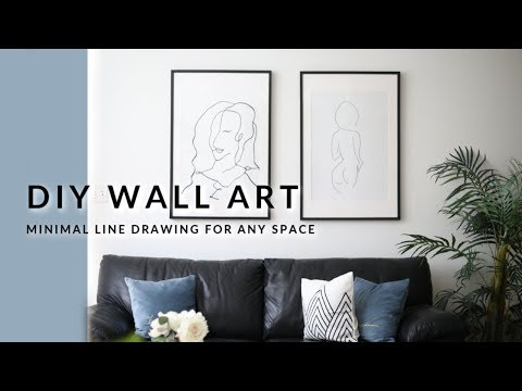 DIY HOME DECOR - EASY LINE DRAWING WALL ART
