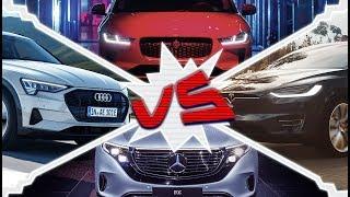Tesla Model X, Jaguar iPace, Mercedes-Benz EQC, Audi e-tron - Do They Cross Shop?