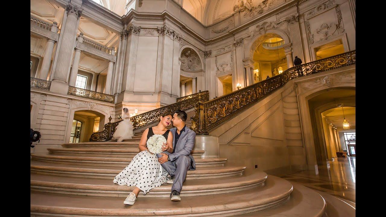 Maria reymon sf city hall wedding video cinematography for Sf courthouse wedding