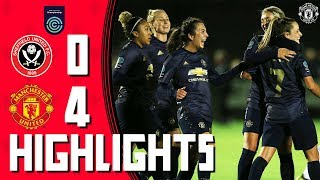 MU Women Highlights | Sheffield United 0-4 Manchester United | FA Women's Championship