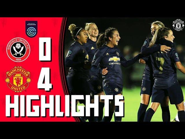 MU Women Highlights | Sheffield United 0-4 Manchester United | FA Women's Championship