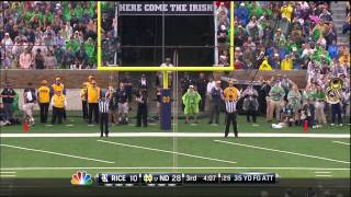 Notre Dame Football Rice Highlights
