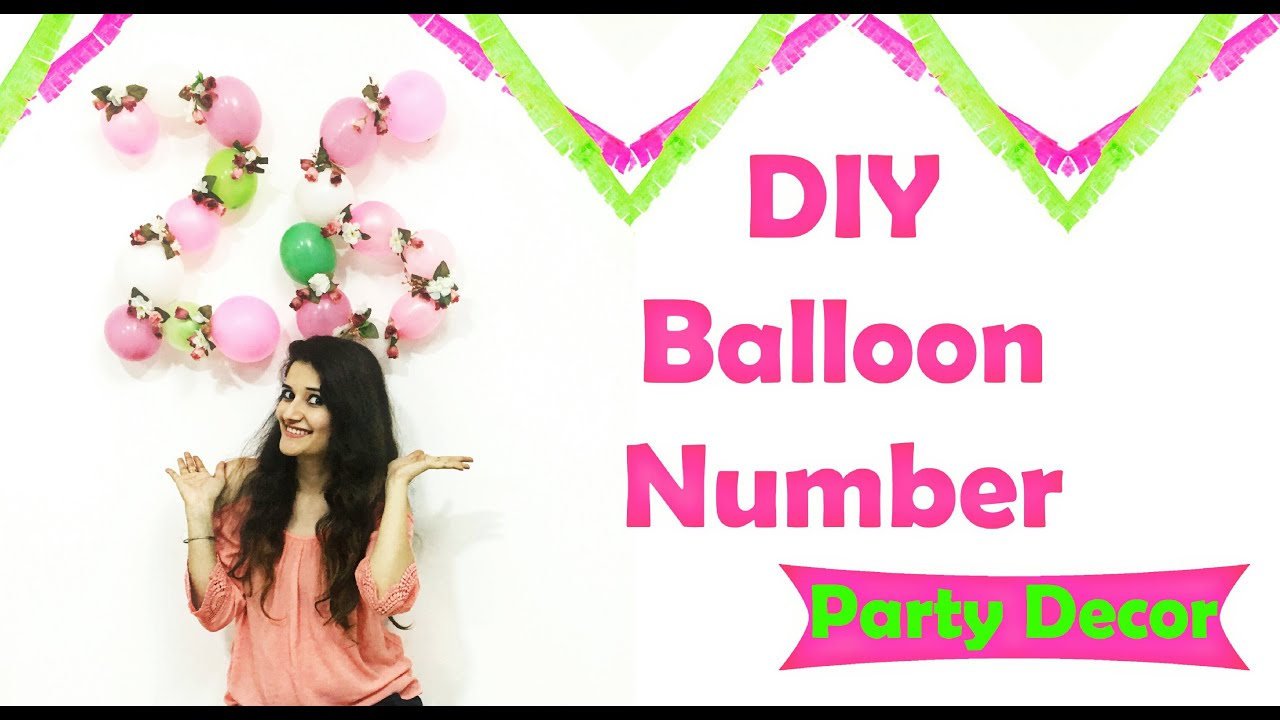 Diy Balloon Number For Party Decor Youtube Baloon
