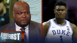 Antoine Walker doubts Zion will have an instant impact in the NBA | CBB | FIRST THINGS FIRST