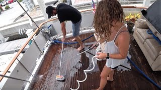 Ep 2 5 How to clean a teak boat deck