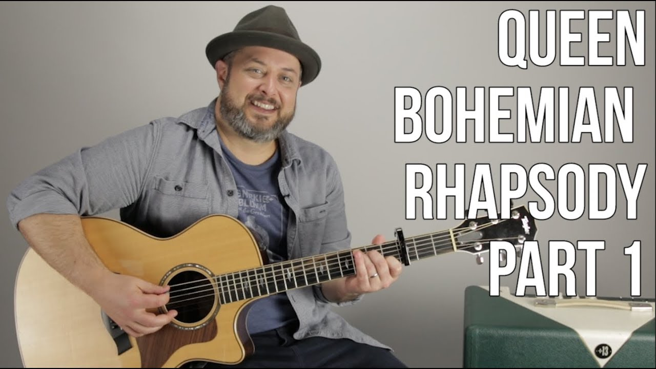 Queen Bohemian Rhapsody - Part 1 - Guitar Chords and Song Tutorial